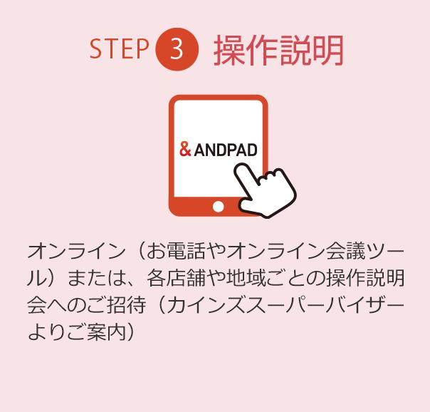 ステップ3:操作説明