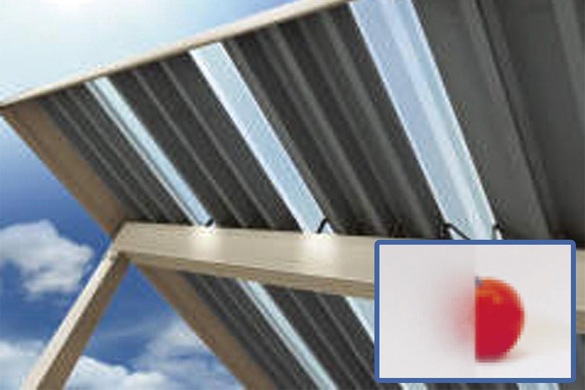 明かり取り屋根(標準装備)